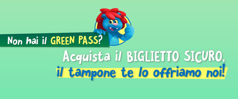 """Acquista il """"biglietto sicuro"""" e vieni al Parco entro il 31/08, per te un buono acquisto dal valore di €20"""