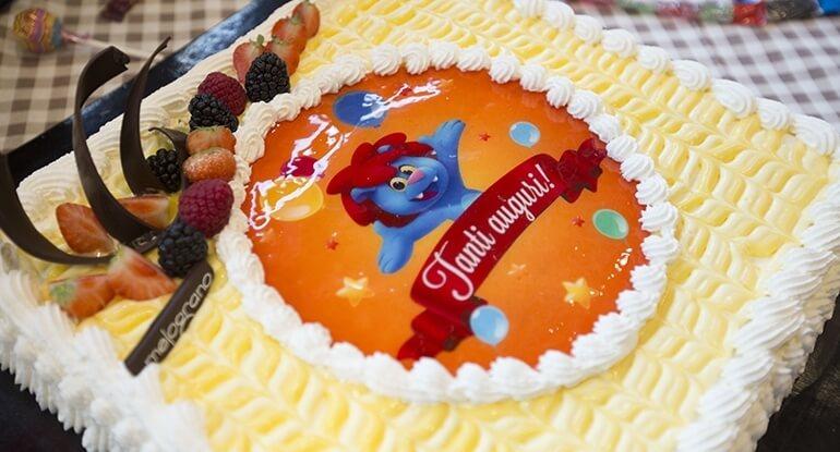torta compleanno leolandia